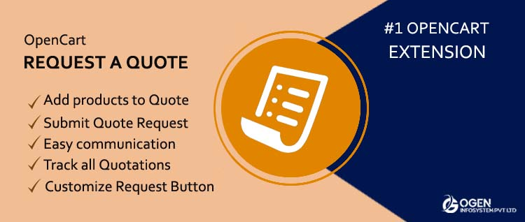 OpenCart Request a Quote Extension - Easy Request a form Feature for Ecommerce